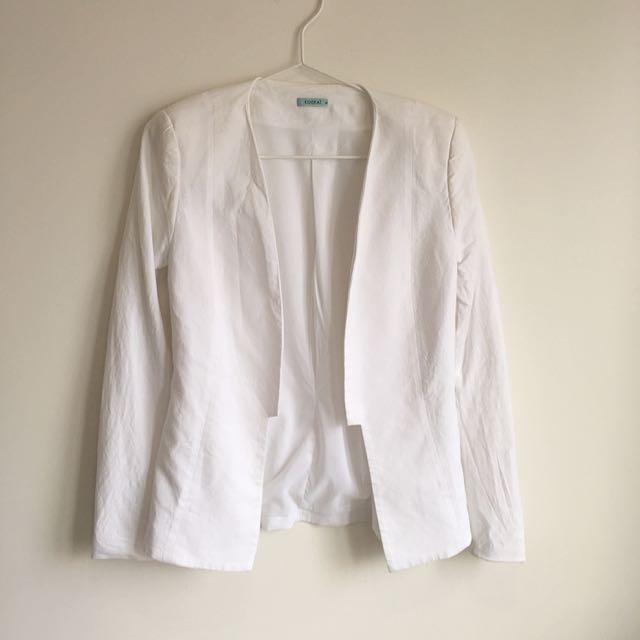 Kookai White Blazer Size 36