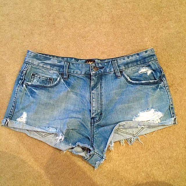Lee Denim Shorts Size 11