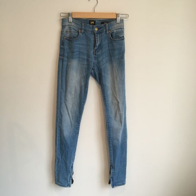 Lee Skinny Leg Washed Out Denim