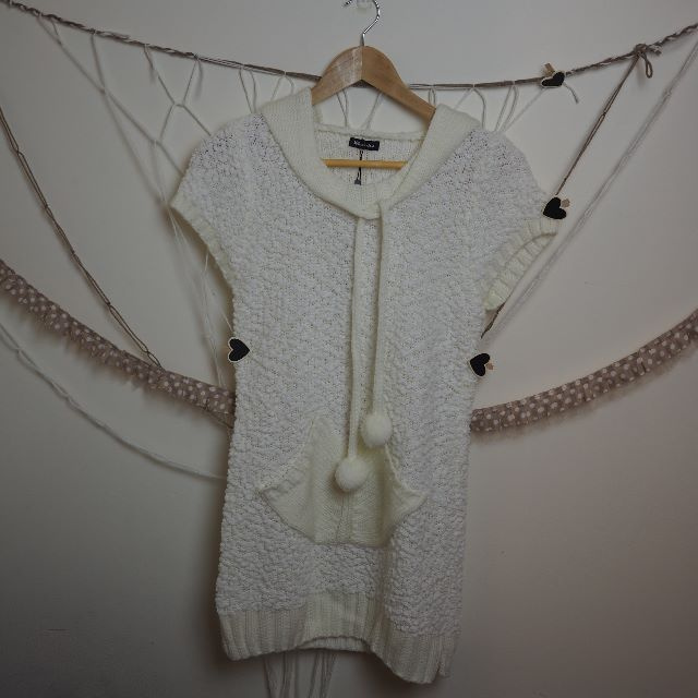 Long Knit Hooded Top