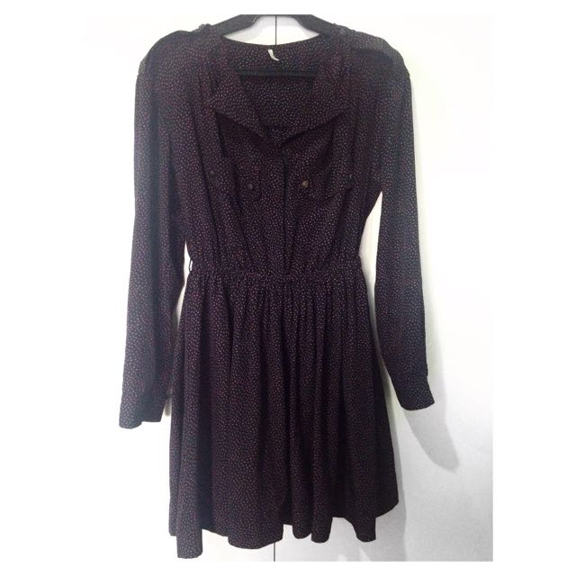 Long-Sleeved Collared Dress