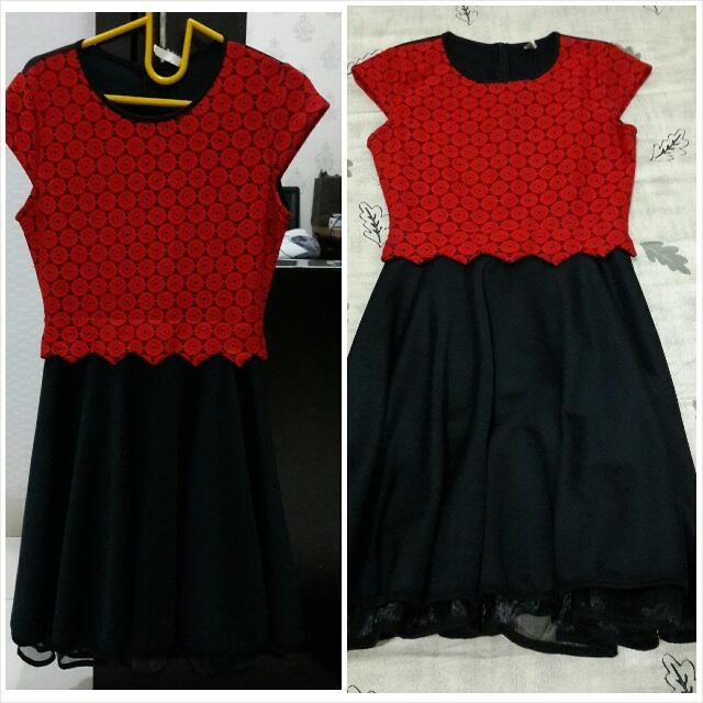 Midi Dress Impor Korea