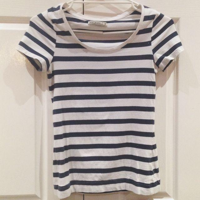 Navy & white T-shirt