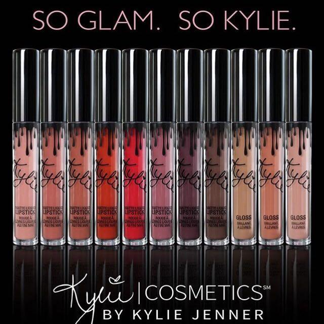 PO Kylie Lipkit Matte, Metal and Gloss