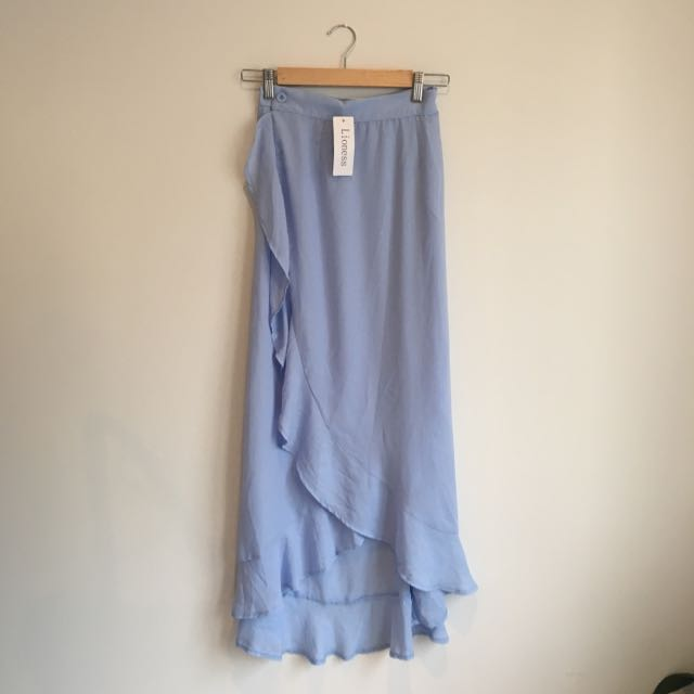 Powder Blue Lioness Maxi Skirt