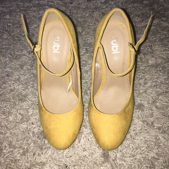 Rubi Shoes Suede Heels