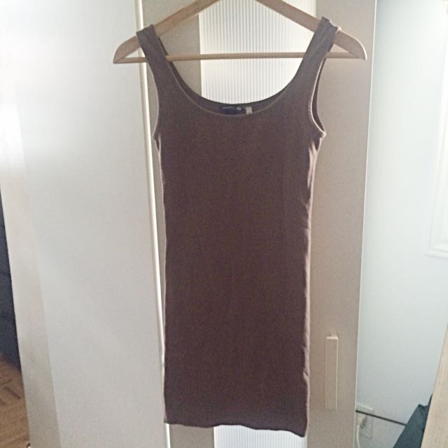 Skintight Taupe Dress