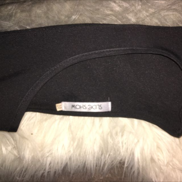 Slide Show Black Top With Mesh