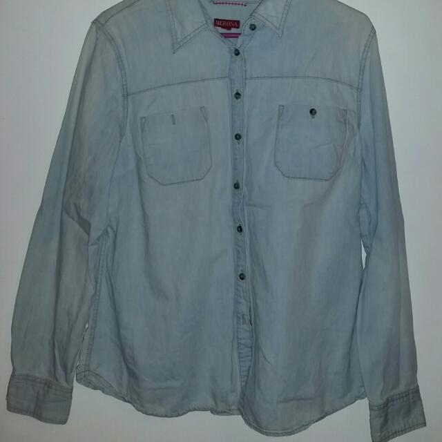Soft Denim Button Up (XL)