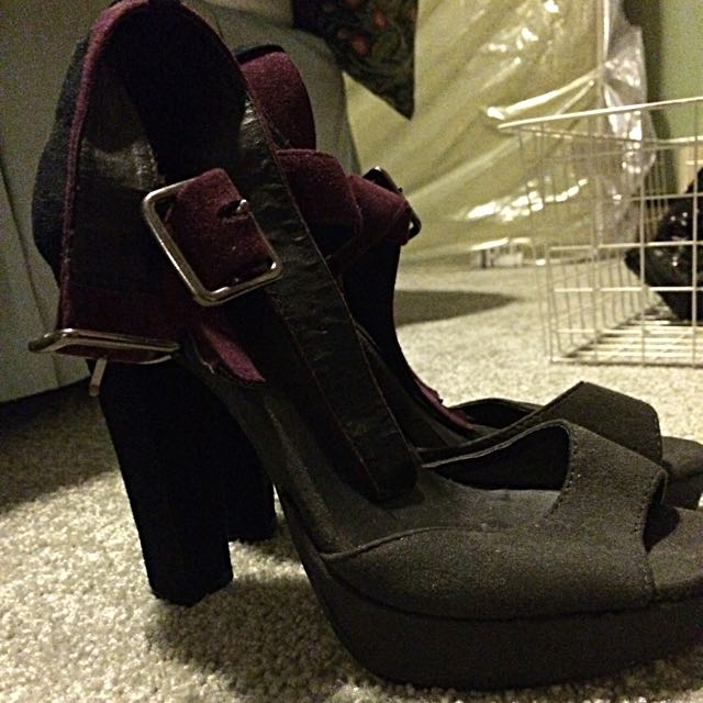 Suede Purple And Greys High Heel