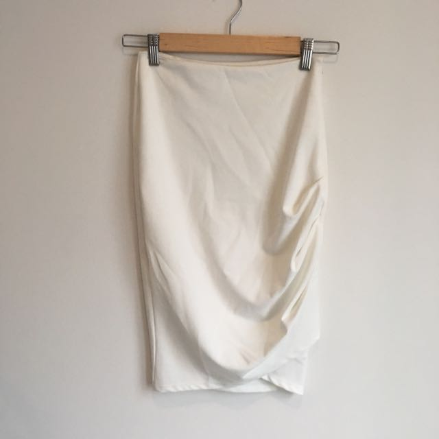 Tiger Mist White Pencil Skirt