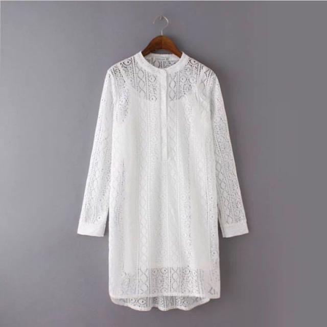 White Brokat dress