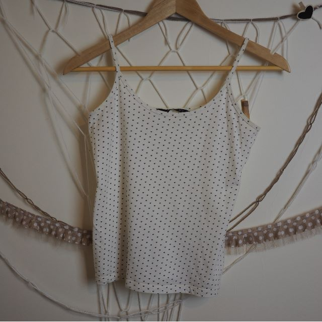 White Singlet with Heart Pattern