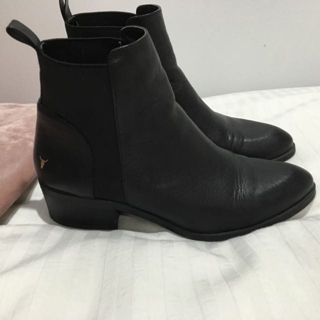 Windsor Smith Black Boots Size 8