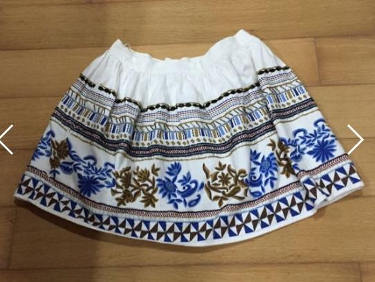 Zara 手工華麗 刺繡裙