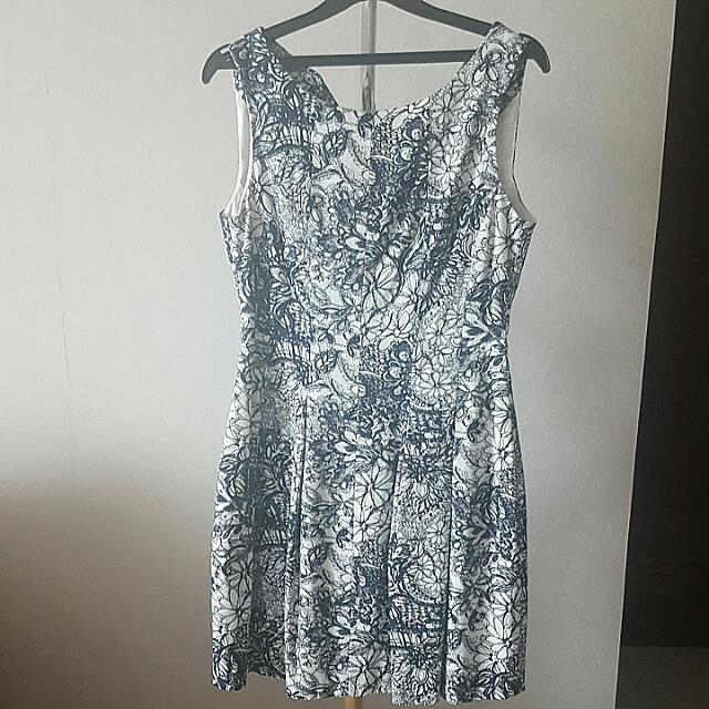Zara Black Flower Dress