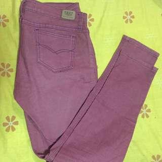 Next Jeans Maroon Pants