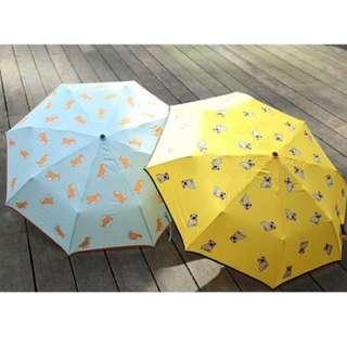 徵❤️黃巴哥雨傘 晴雨兩用傘 滿版巴哥