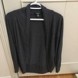 Grey Thin Cocoon Cardigan