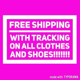 Free Shipping With Tracking!!!!!!!!!!!