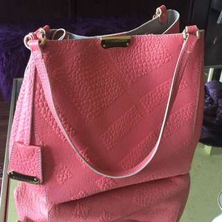 Burberry | Pink the Small Canter Bounded Leather Bag