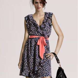Brand New Front Wrap Polka Dot Dress With Sash (H&M Inspired)