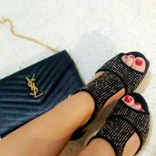 YSL STUDDED TRIBUTE SHOES
