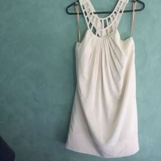 Size 12 - White Cross Back Dress