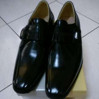 全新 A.S.O 阿瘦 皮鞋 鞋面 雙色鏡面摔花牛皮 鞋