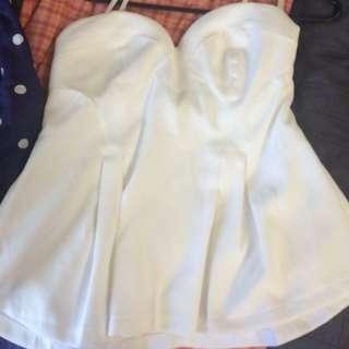 White Strapless Top , Nwt