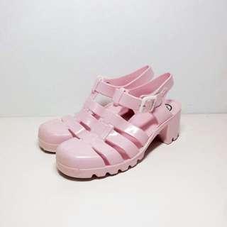 🚚 🇬🇧英國 juju 高跟涼鞋 Baby Pink 粉 #轉轉來交換