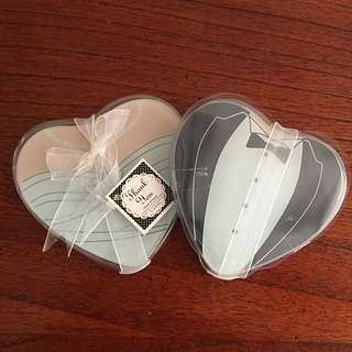 Heart Shaped Gown & Tuxedo Glass Coasters (Set of 2) 40 Sets Left