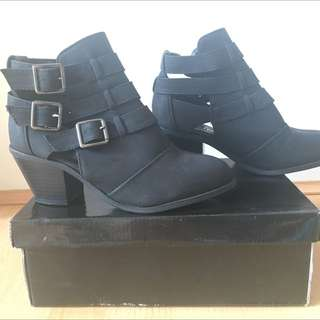 Gorgeous Wide Fit Cut-Out Ankle Boots