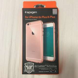 iPhone 6s/6 Plus Ultra Hybrid Cover Clear with Rose Trimmings