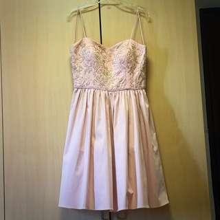 Forever New Pastel Pink Dinner Dress