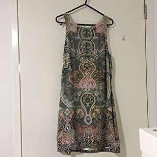 Forever New patterned silk dress