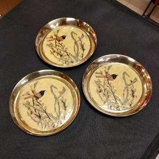 Decorative Brassware Tray/Coasters