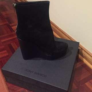 Tony Bianco Wedge Black Boots