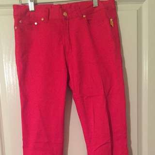 Bettina Liano Red Skinny Jeans
