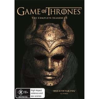 Game Of Thrones Series - Complete Season 1-5 Set