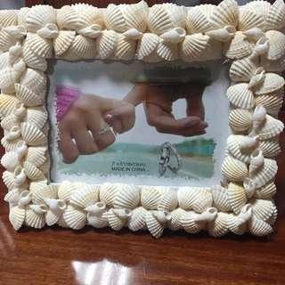 全新精美貝殼相框