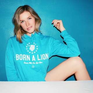 Born A Lion Skate Wear Unisex Blue Hoodie Jumper