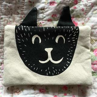Gorgeous Cat Face Purse Beauty Bag Clutch