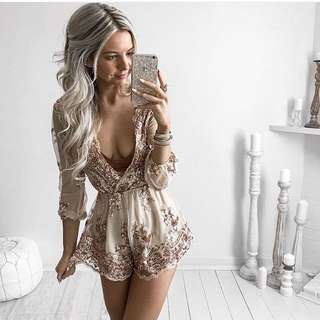 Sequinned Playsuit