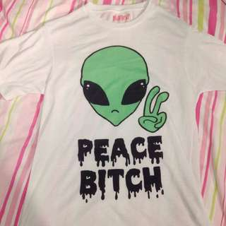 'Peace Bitch' Tibbs And Bones Alien T-shirt