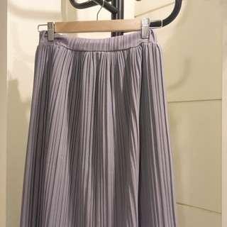 藕紫色 灰色 百折裙