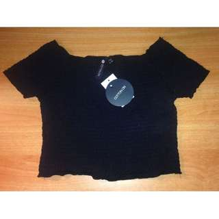 -NEW- Cotton On Black Off Shoulder Top