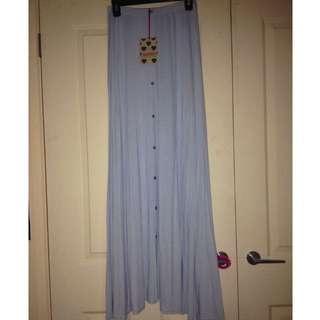 -NEW- Boohoo Blue Maxi Skirt