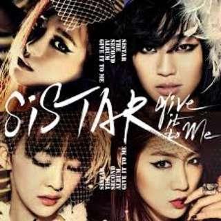 [WTB] SISTAR ALBUMS