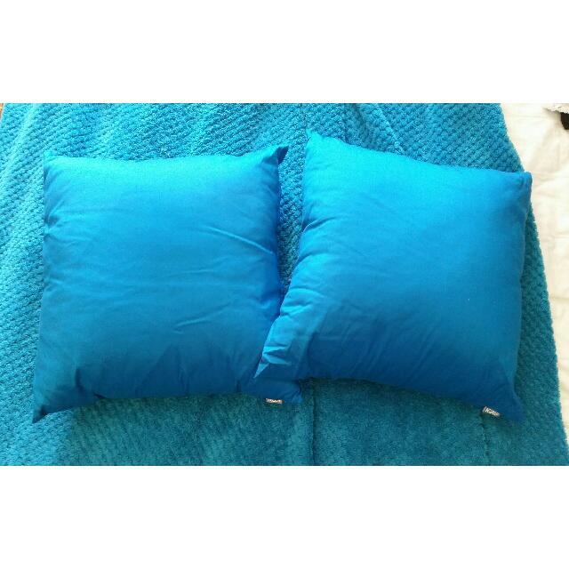 2x Blue Cushions